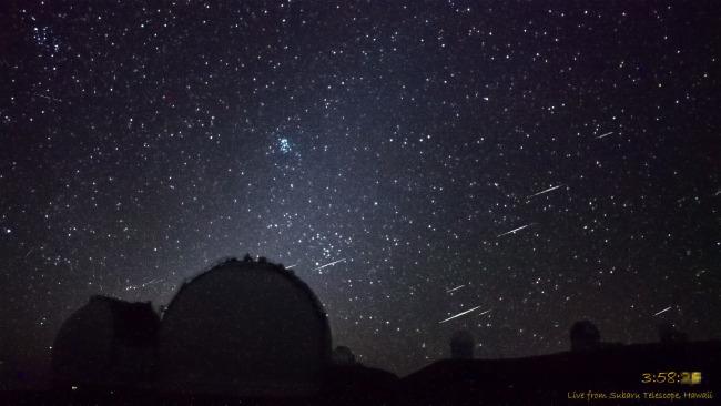Meteor cluster event